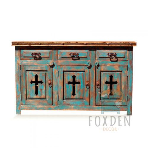 turquoise cross vanity