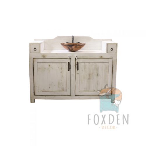 gwenn rustic farmhouse white vanity