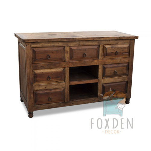 7 drawer barnwood vanity