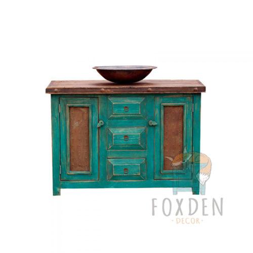 rustic turquoise vanity