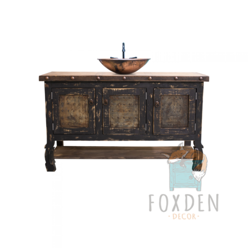 black farmhouse vanity