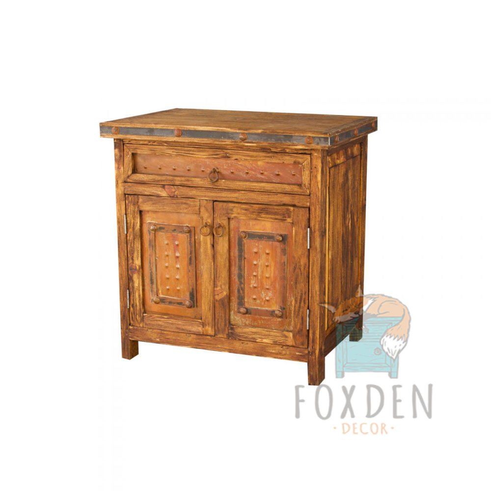 Small Vanity with Rustic Metal Panels
