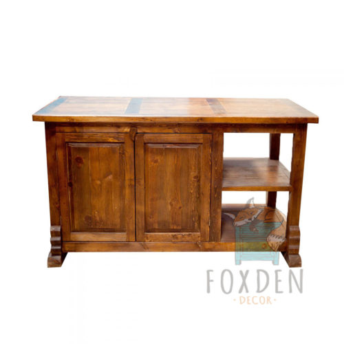 kitchen island old wood