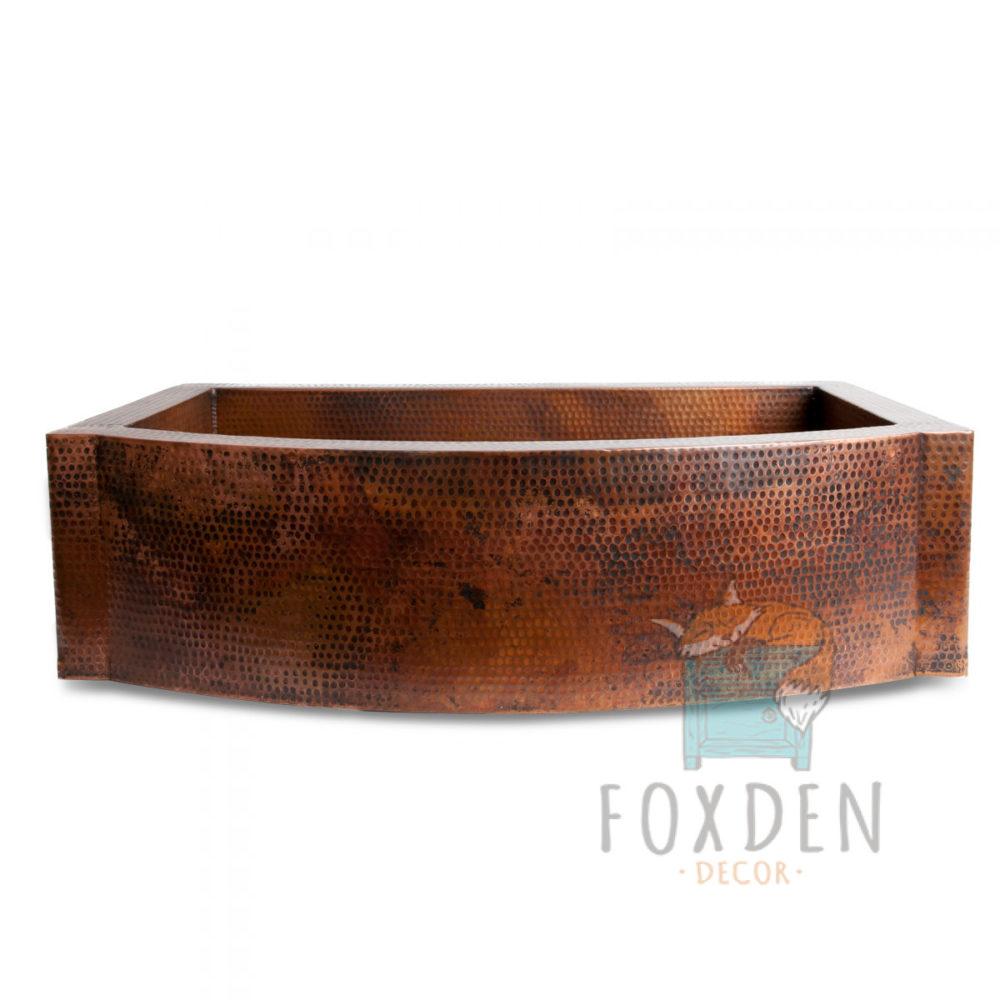 apron front copper sink