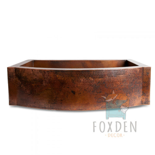 apron front copper sink