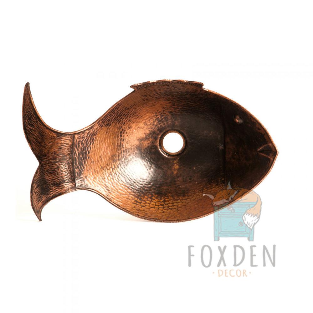 fish copper vessel sink