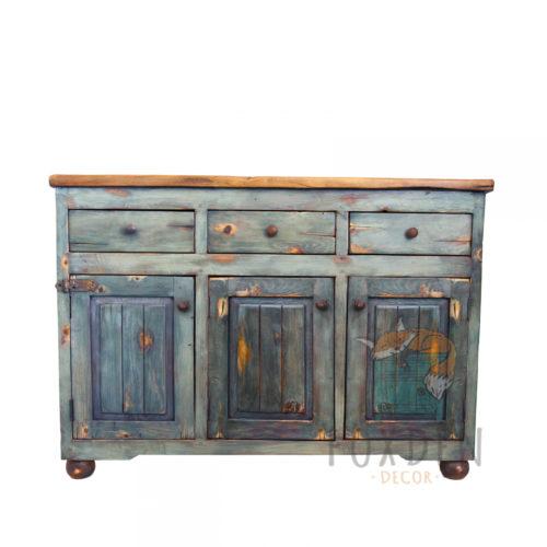 urban rustic bathroom console