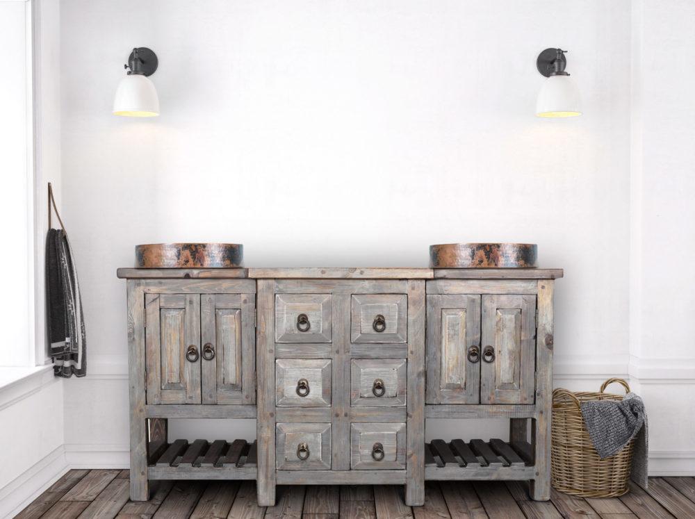 robertson vanity rustic round sinks