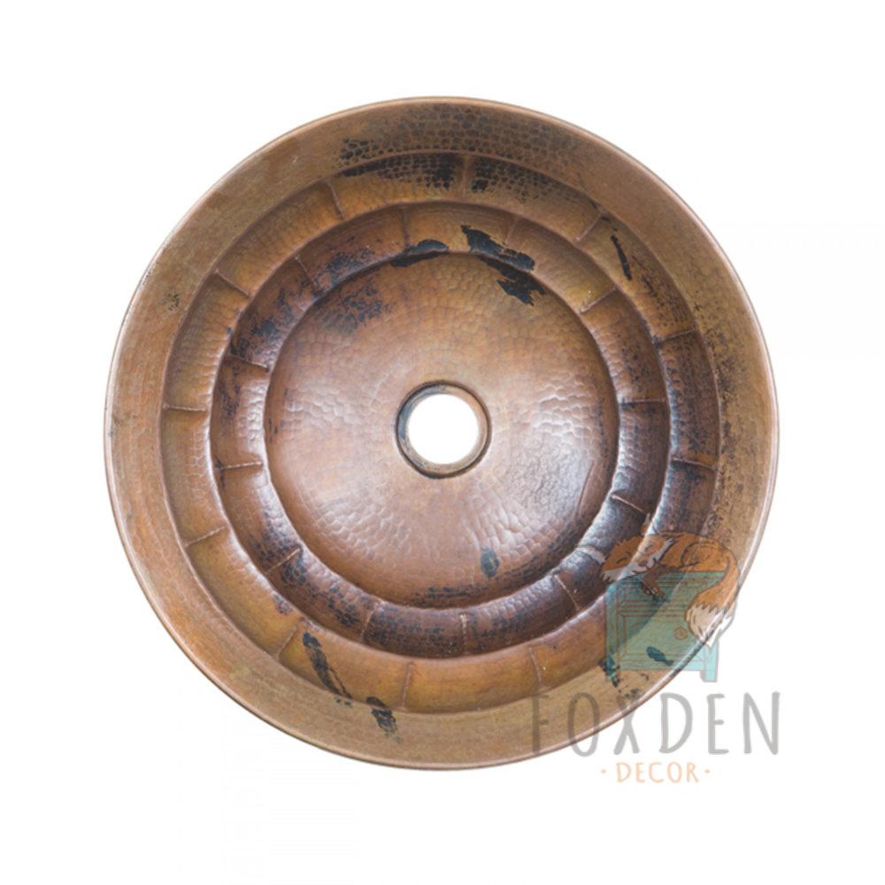 Turtle Shell Round Vessel Copper Sink