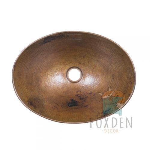 Oval Vessel Copper Sink