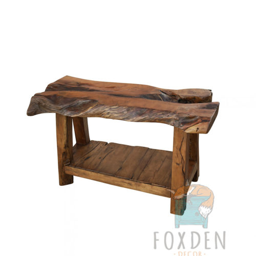 farmhouse live edge vanity