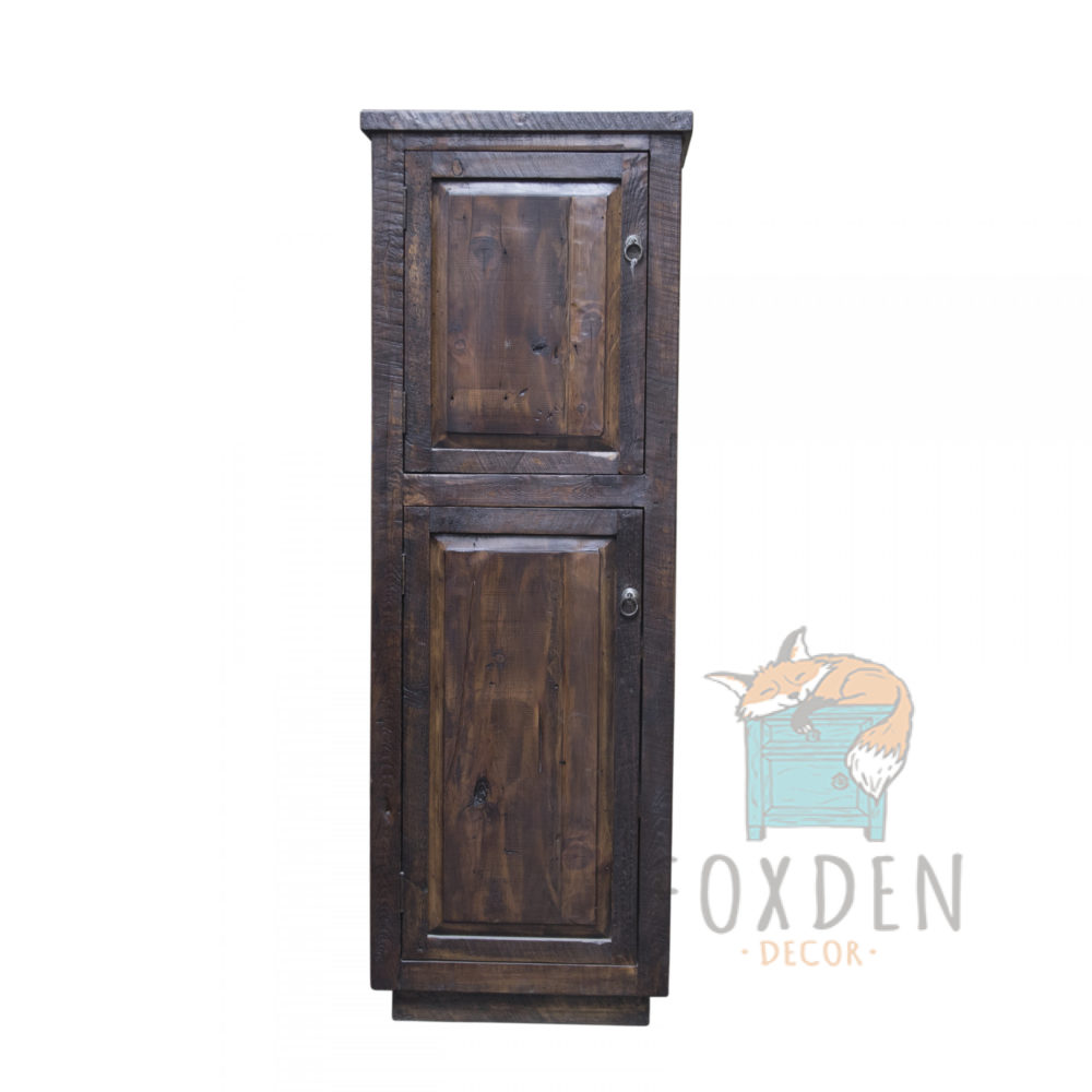 reclaimed linen cabinet