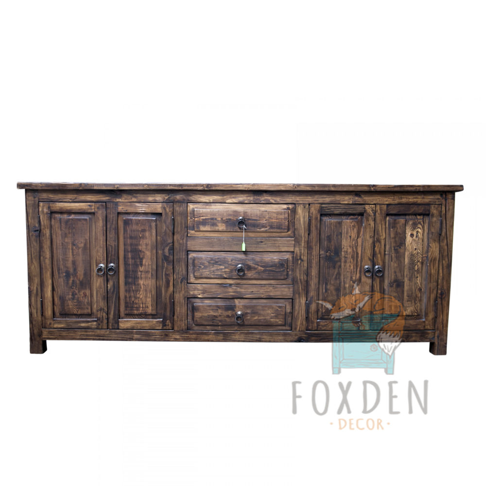 double sink reclaimed wood vanity