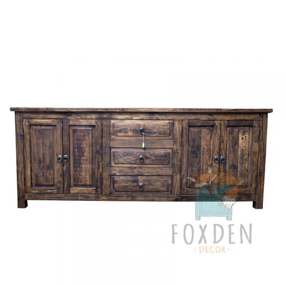 double sink reclaimed wood vanity