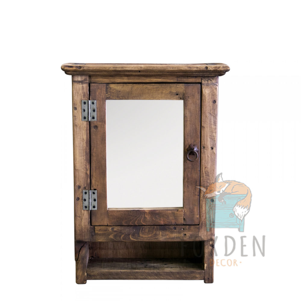 reclaimed medicine cabinet with mirror