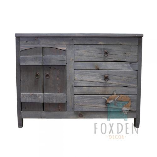 gray barnwood vanity