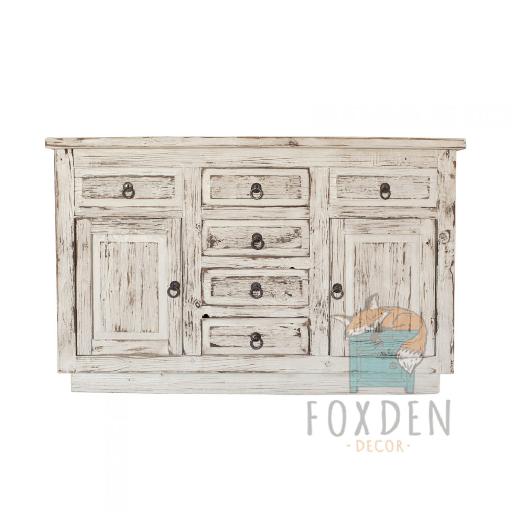 white reclaimed console