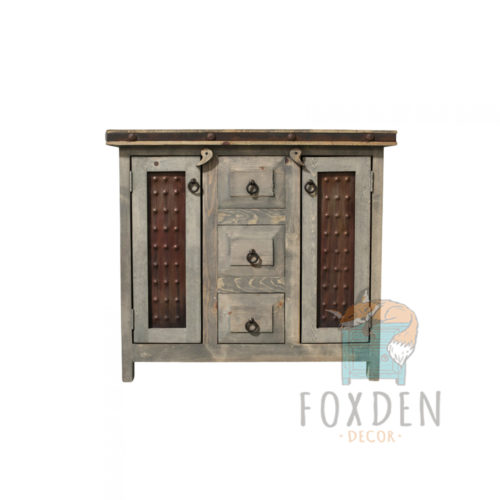 Paisley Gray 3 Drawer Rustic Vanity
