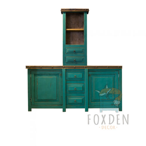 rustic double sink console
