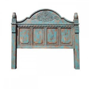 Carved Turquoise Bed