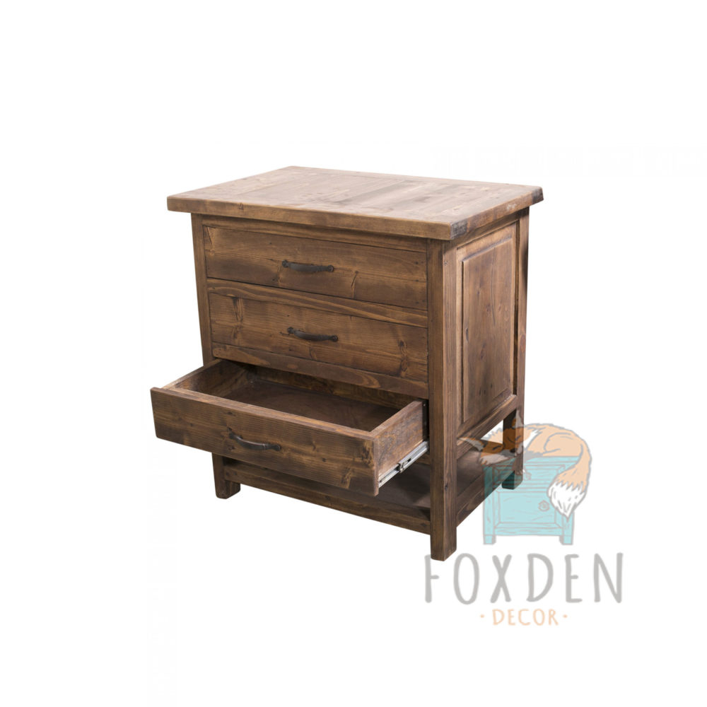 single sink rustic console