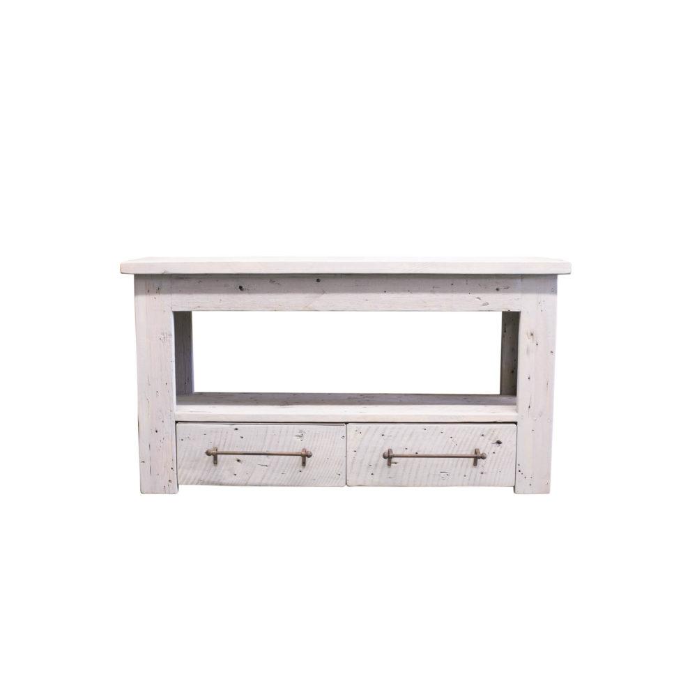 reclaimed wood bathroom console