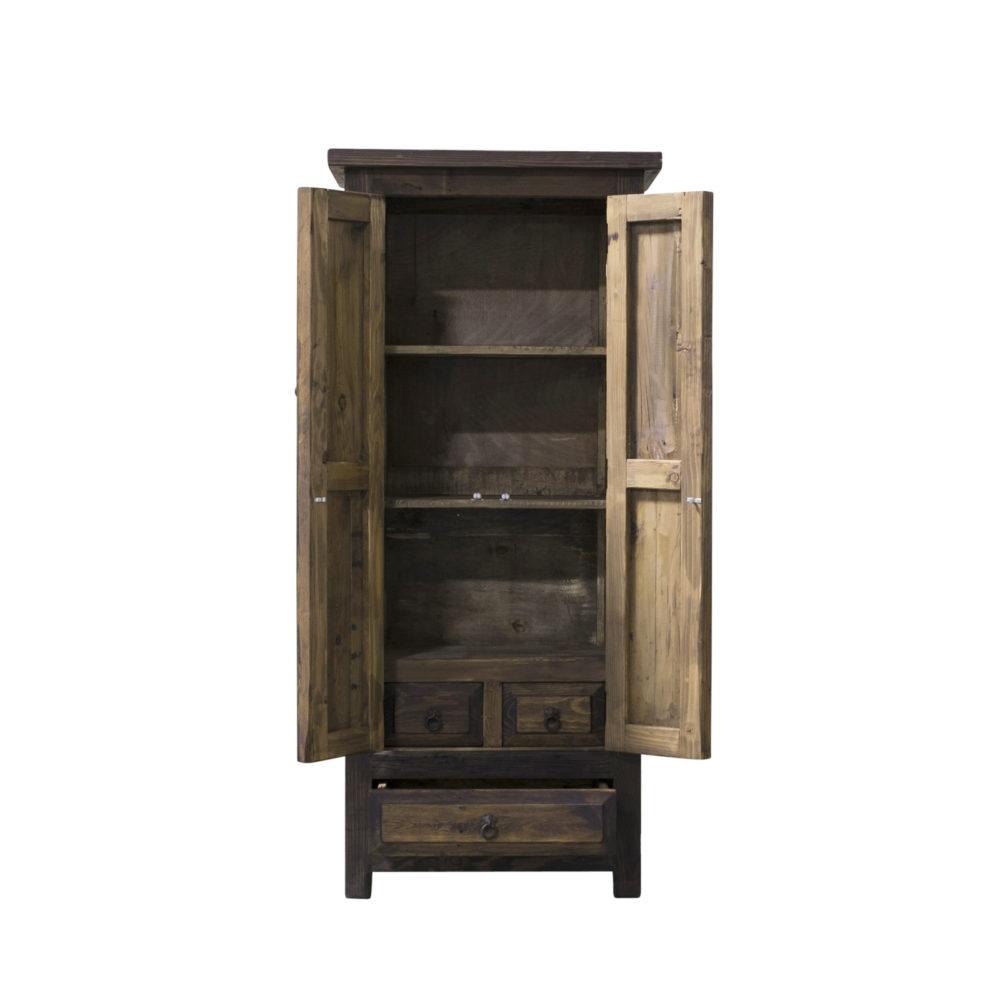 reclaimed linen cabinet side