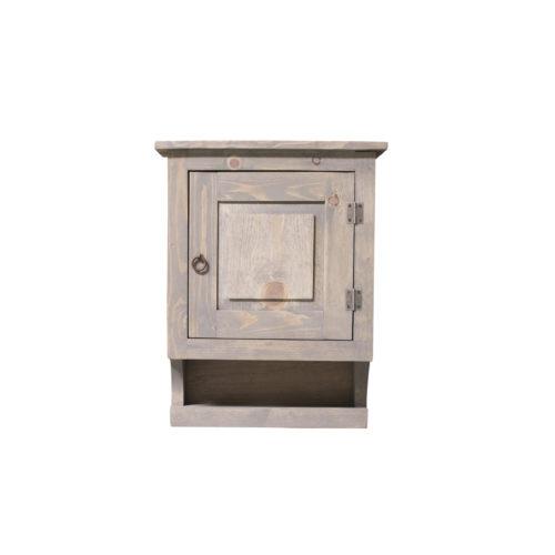 gray medicine cabinet