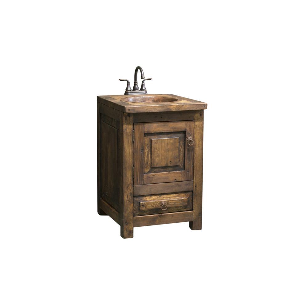 """24"""" bathroom vanity rustic"""