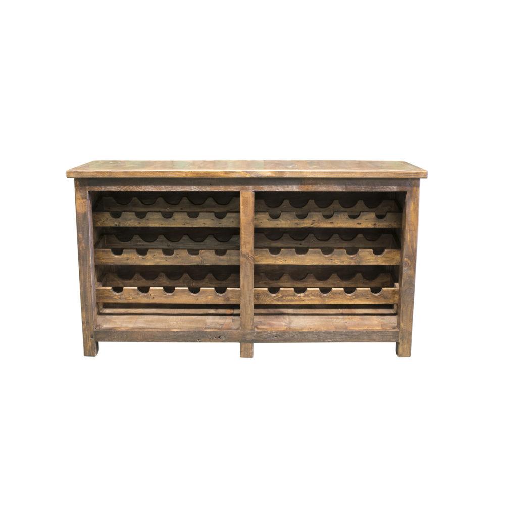 reclaimed wine rack