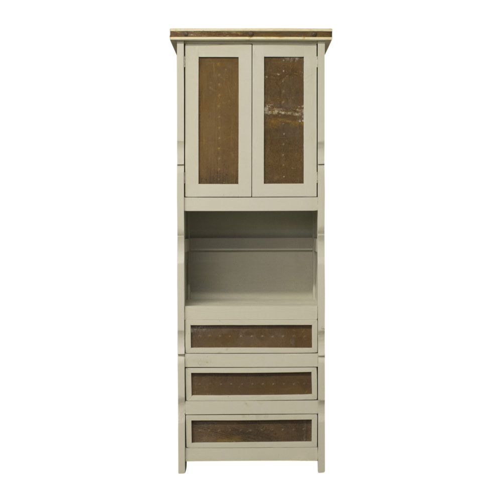 linen cabinet painted